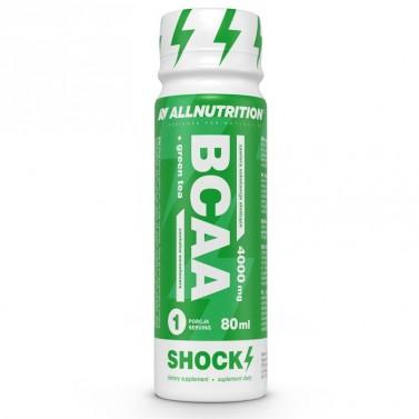 BCAA + Green Tea Shock течни аминокиселини All Nutrition - 12x80 ml