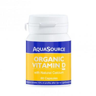 Органичен Витамин D AquaSource - 60 Капсули