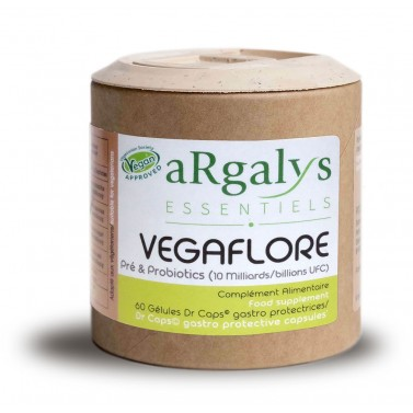 VEGAFLORE – Пробиотик и Пребиотик Argalys Essentiels - 60 Вега капсули