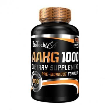 AAKG 1000mg BIOTECH USA - 100 Таблетки