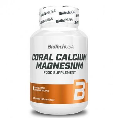 Коралов калций с магнезий BIOTECH USA - 100 Таблетки