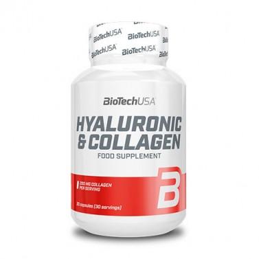 Хиалурон и колаген / Hyaluronic & Collagen BIOTECH USA - 30 Капсули