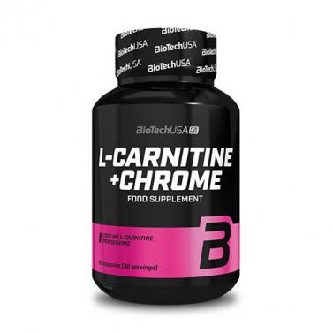 Л-карнитин + хром / L-Carnitine + Chrome за нея BIOTECH USA - 60 Капсули