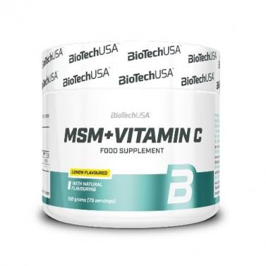 Метилсулфонилметан MSM + витамин C BIOTECH USA - 150 g