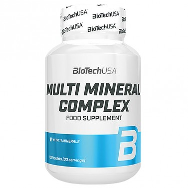Минерален комплекс / Multi Mineral Complex BioTech USA - 60 таблетки