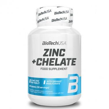 Цинк + хелат / Zinc + Chelate BIOTECH USA - 60 Таблетки