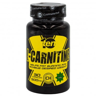 L-Карнитин / L-Carnitine 10/Ten Cvetita Herbal - 30 капсули