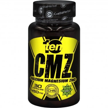 Калций, Магнезий, Цинк CMZ 10/ten - Cvetita Herbal - 30 капсули