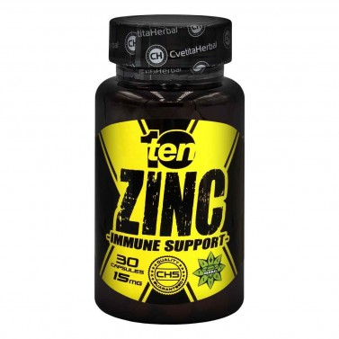 Цинк / Zinc 15mg 10/ten Cvetita Herbal - 30 капсули