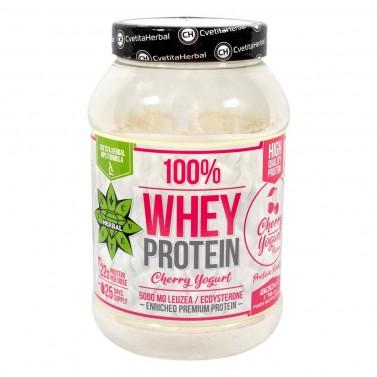 100% Суроватъчен Протеин с Левзея Cvetita Herbal - Черешов Йогурт/Шоколад с лешници - 800 g
