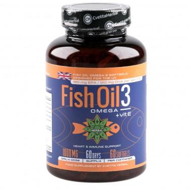 Рибено масло Омега 3 + Витамин Е Cvetita Herbal - 60/90/120 капсули