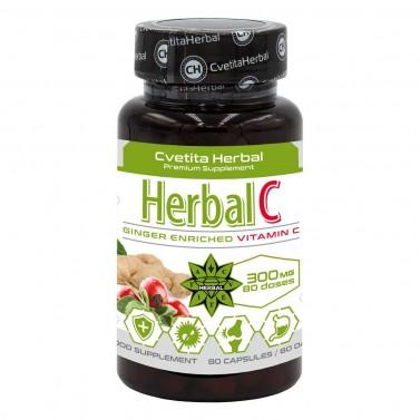 Хербал C - Витамин C и Джинджифил Cvetita Herbal - 80 капсули