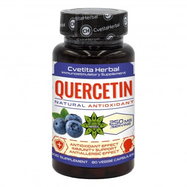 Кверцетин / Quercetin  Cvetita Herbal - 80 капсули