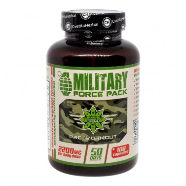 MILITARY Force Pack Cvetita Herbal - 100 капсули