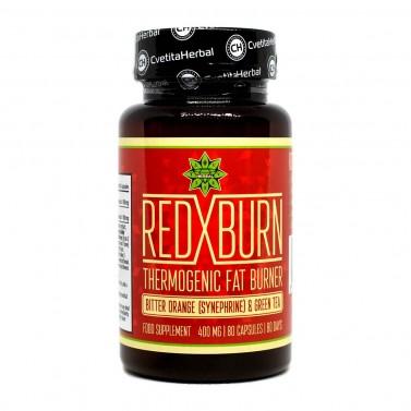 Горчив портокал и Зелен чай / Red X Burn Cvetita Herbal - 80 капсули
