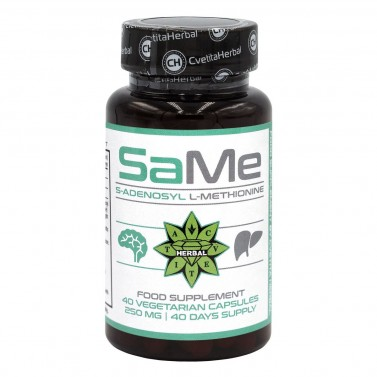SAMe - S-adenosyl L-methionine Cvetita Herbal - 40 веге капсули
