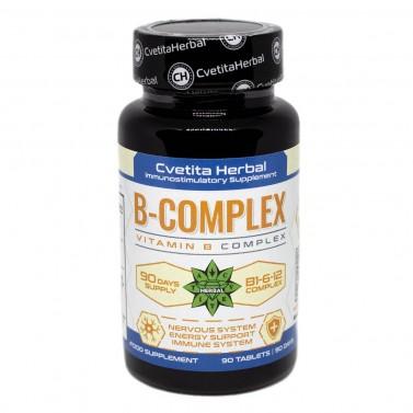 Vitamin B Complex - Витамин B Комплекс B1-B6-B12 Cvetita Herbal - 90 таблетки