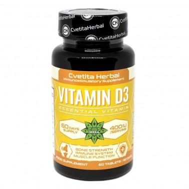Vitamin D3 / Витамин D3 Cvetita Herbal - 60 таблетки