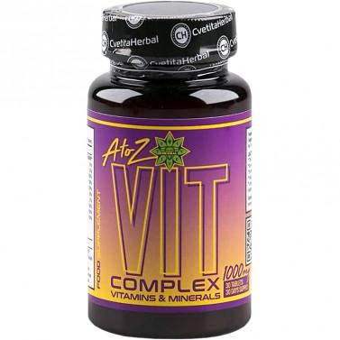 A to Z VIT Complex - Витамини & Минерали Cvetita Herbal - 30/100 таблетки