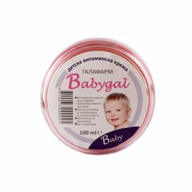 "Детски крем с витамини и хипоалергенни ""BABYGAL"" Galafarm - 50 ml /100 ml /250 ml"