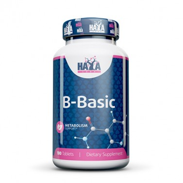 Комплекс от витамин B B-Basic HAYA LABS - 100 Таблетки