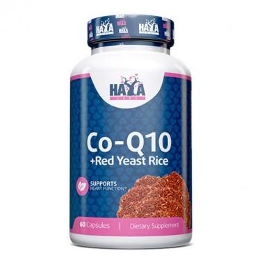 Коензим Q10 60mg и дрожди от червен ориз 500 mg HAYA LABS - 60 Капсули