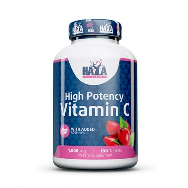 Витамин C / Vitamin C 1000mg с Шипка HAYA LABS - 100 таблетки