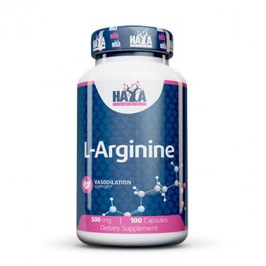 L-аргинин / L-Arginine 500mg HAYA LABS - 100 Капсули