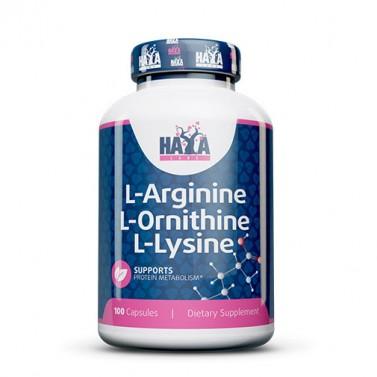 L-аргинин / L-орнитин / L-лизин HAYA LABS - 100 Капсули