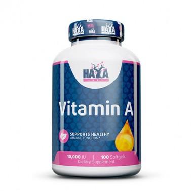 Витамин A 10,000 IU HAYA LABS - 100 Меки капсули
