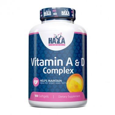 Витамин A & D комплекс HAYA LABS - 100 Меки капсули