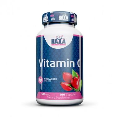 Витамин C / Vitamin C 500mg с Шипка HAYA LABS - 100 капсули