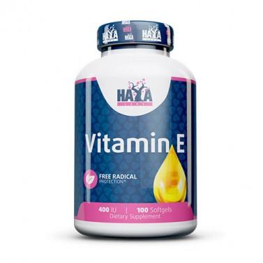 Витамин E 400 IU HAYA LABS - 100 Меки капсули