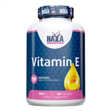 Витамин Е / Vitamin E смесени токофероли 400 IU HAYA LABS - 60 Меки капсули