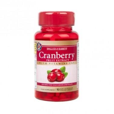 Екстракт от червена боровинка / Cranberry Fruit Extract 255mg HOLLAND AND BARRETT - 50 Таблетки