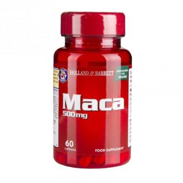 Мака / Maca 500 mg HOLLAND AND BARRETT  - 60 Капсули