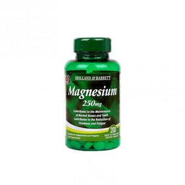 Магнезиев оксид / Magnesium Oxide 250 mg HOLLAND AND BARRETT - 200 Таблетки