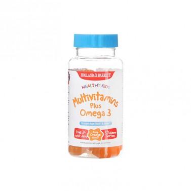 Мултивитамини за деца / Healthy Kids MultiVitamins Plus Omega 3 HOLLAND AND BARRETT - 30 Дъвчащи капсули