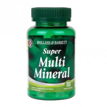 Супер Мултиминерал / Super Multi Mineral HOLLAND AND BARRETT - 100 Таблетки
