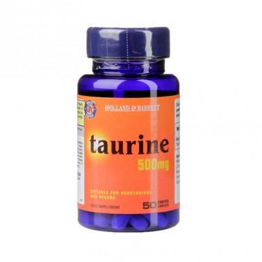 Таурин / Taurine 500 mg HOLLAND AND BARRETT - 50 Капсули