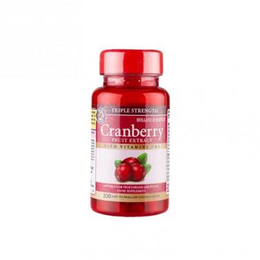 Тройна концентрация на червена боровинка HOLLAND AND BARRETT - 100 Таблетки