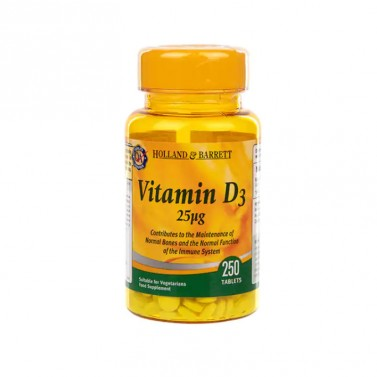 Витамин Д3 / Vitamin D3 1000 IU HOLLAND AND BARRETT - 250 Таблетки