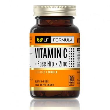 Витамин C + Шипка + Цинк Life Formula - 90 Капсули за дъвчене