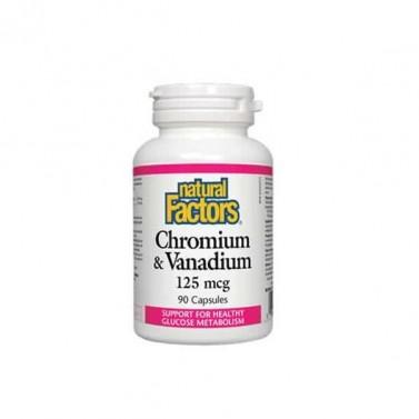 Хром & Ванадий / Chromium & Vanadium Natural Factors - 90 капсули