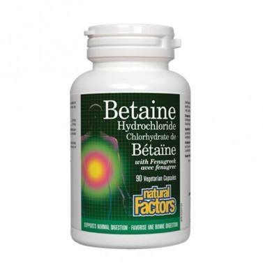 Бетаин Хидрохлорид / Betaine Hydrochloride 500 mg Natural Factors - 90 капсули