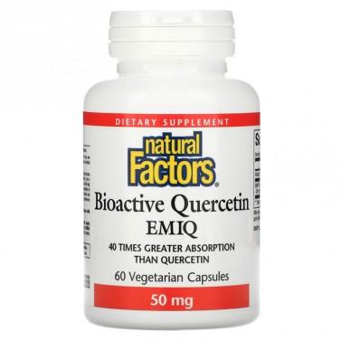 Bioactive Quercetin EMIQ / Ензимно модифициран изокверцетин Natural Factors - 60 Капсули