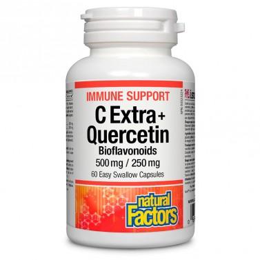 Immune Support C Extra + Quercetin Bioflavonoids Natural Factors - 60 капсули