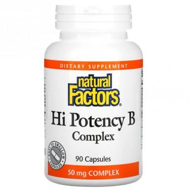 Hi Potency В-комплекс Natural Factors - 60 Капсули