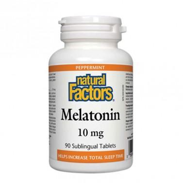 Мелатонин / Melatonin 10 mg Natural Factors - 90 Сублингвални таблетки