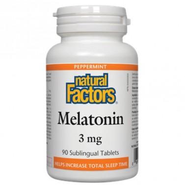 Мелатонин / Melatonin 3 mg Natural Factors - 90 Сублингвални таблетки